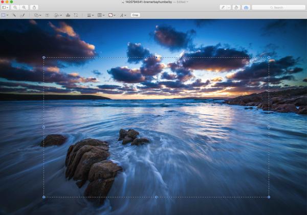 Как быстро обрезать фото стандартными средствами Mac
