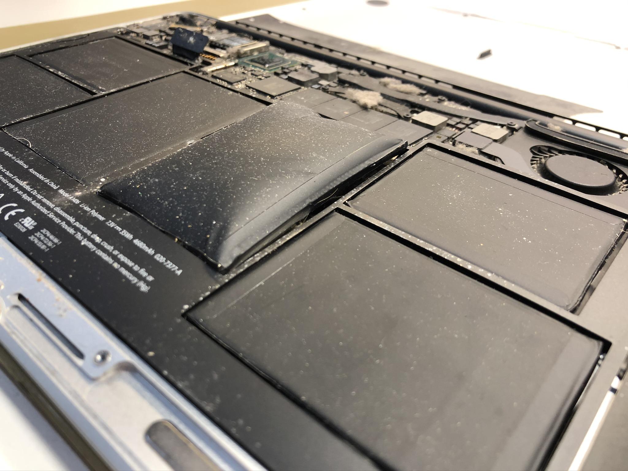 macbook air со вздувшейся батареей 2