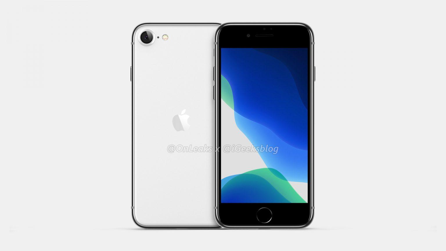 рендеры iPhone SE 2