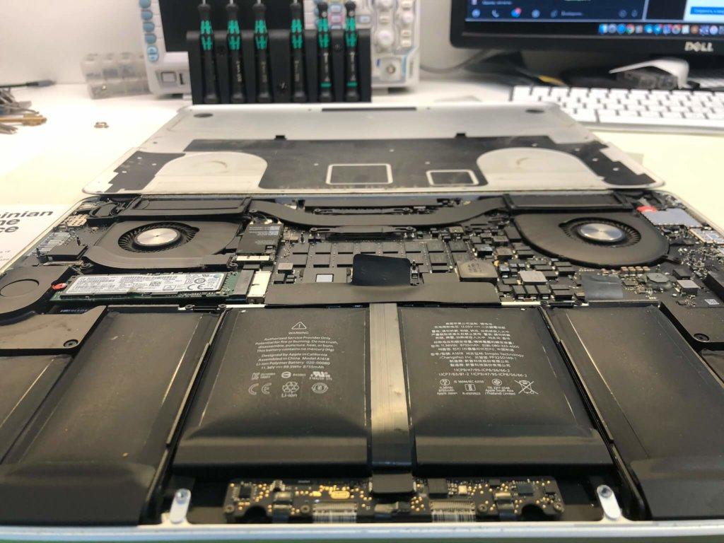 вздутая батарея MacBook Pro
