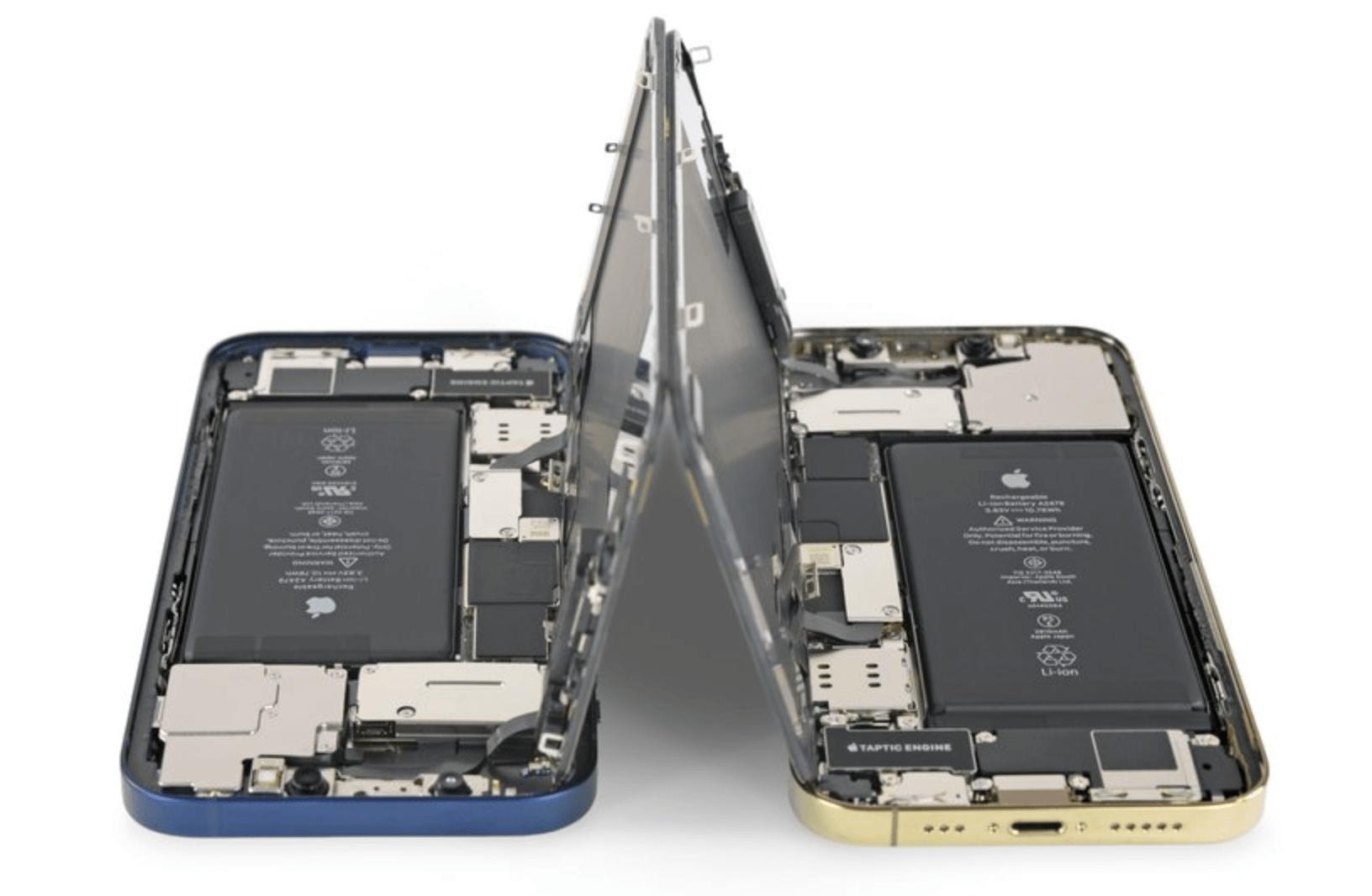 внутренности iPhone 12 и iPhone 12 Pro