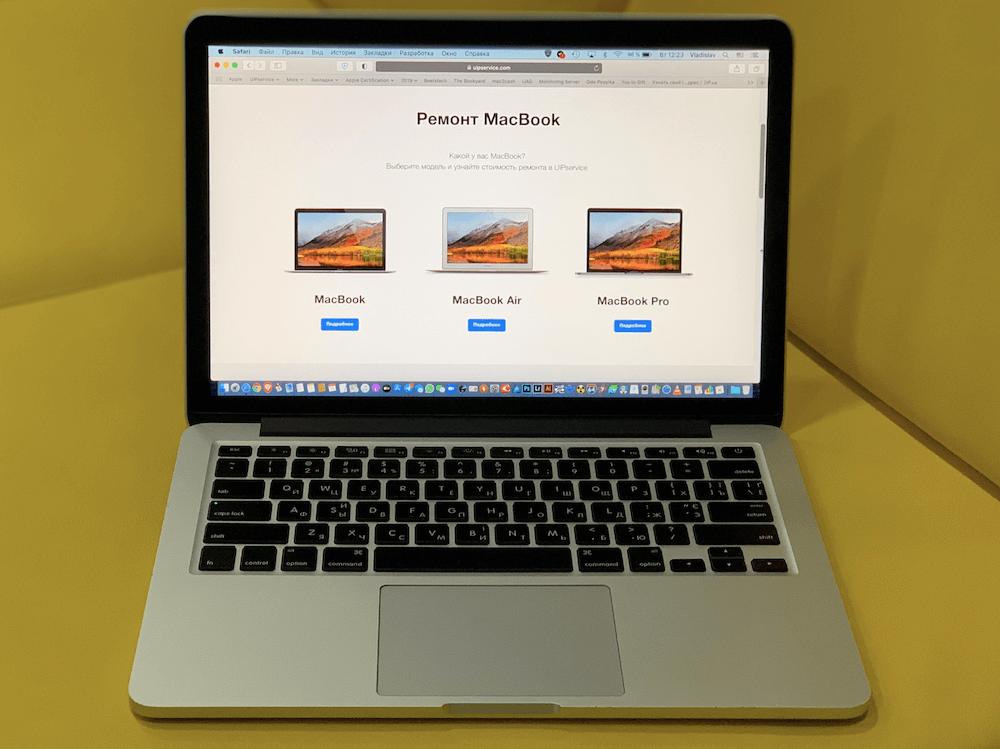 Замена дисплейного модуля MacBook Pro в UiPservice