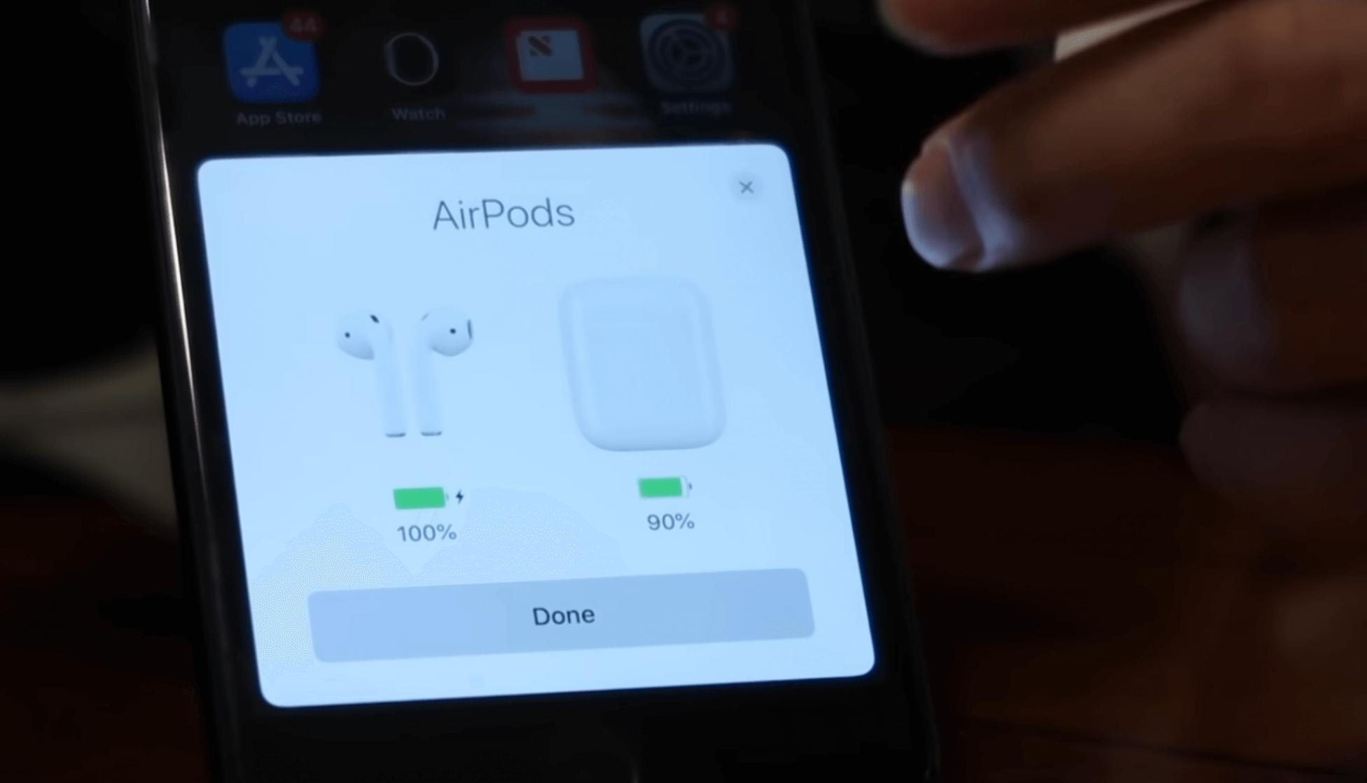 подключение AirPods
